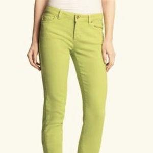 Sigrid Olsen green olive cotton jeans.  Size 6.